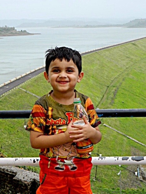 My boy at the Madhuban Dam