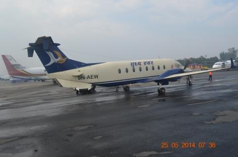 The Beech 1900D- 18 seater aircraft