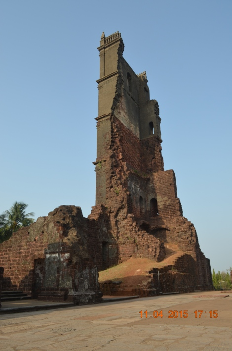 St. Augustine Tower is one of the most spectacular monuments in Goa