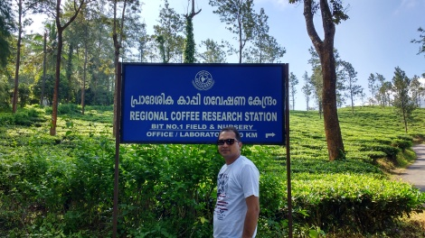 At Regional Coffee Research Station.