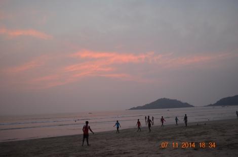 The golden sunset on Arabian Sea