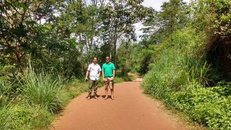 Walking towards Suchipara waterfalls.