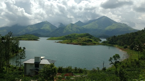 Backwater of Banasura Sagar Dam.