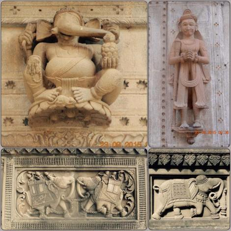 Sculptures on temple walls