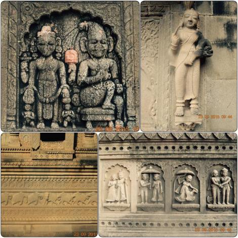 Sculptures on temple