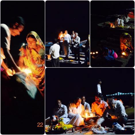 The evening Narmada Aarti