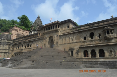 The temple steps from the Ghats