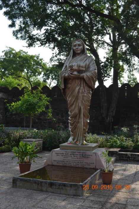 Statue of Rajmata Ahilya Devi Holkar
