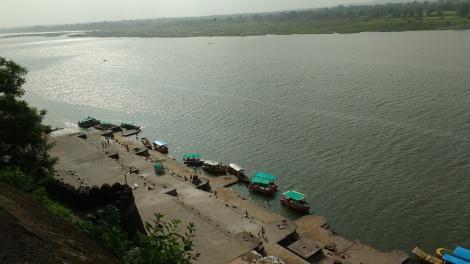 View of Naramada from Ahilya Fort